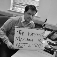 The Washing Machine Is Not A Toy!